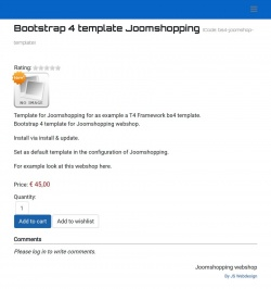 Bootstrap 4 template Joomshopping