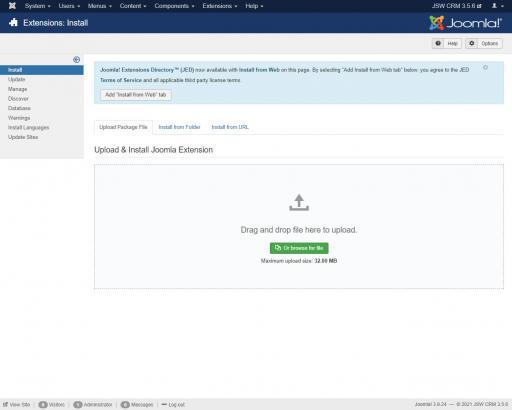 Install JSW CRM