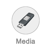 Mediamanagement button