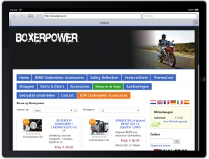Responsive website Boxerpower.nl